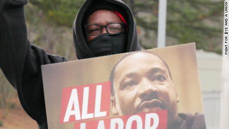 Fast food workers go on strike in honor of Martin Luther King Jr.