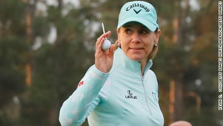 Sorenstam won 10 major titles during her professional career.