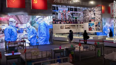 """An exhibition, titled """"Putting People and Lives First -- A Special Exhibition on the Fight Against Covid-19 Pandemic,"""" celebrates Wuhan's eventual triumph over the coronavirus."""