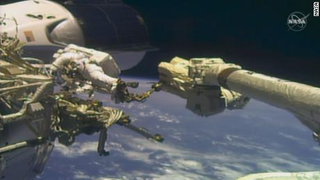 NASA astronauts conduct the second spacewalk of the year