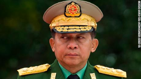 Min Aung Hlaing, commander in chief of the Myanmar armed forces, pictured in Yangon on July 19, 2018.