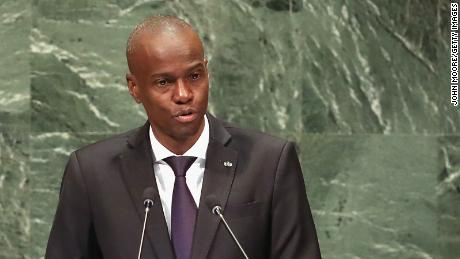 Moise addresses the United Nations General Assembly on September 27, 2018, in New York.