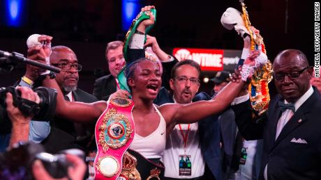 Claresa Shields became the undisputed middleweight champion of women in 2019.