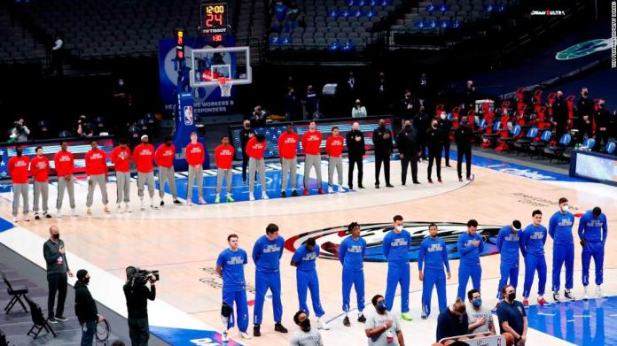 Dallas Mavericks play national anthem for first time this season after NBA reiterate anthem policy