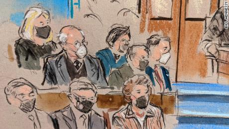 Inside the Senate: Sketches of legalists watching video from Trump's lawyer on Day 4 of impeachment trial