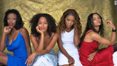 "(From left) Jill Marie Jones, Tracee Ellis Ross, Golden Brooks and Persia White star in ""Girlfriends."""