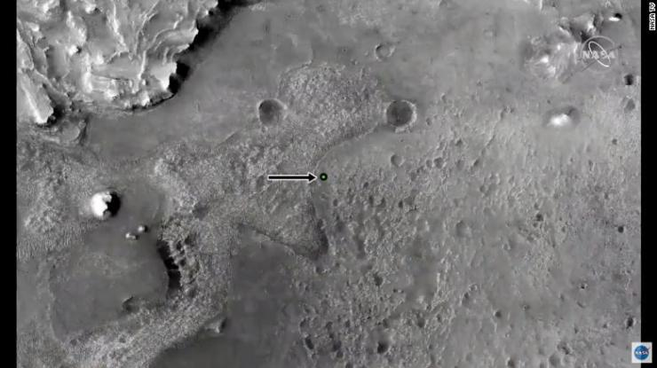This image shows the landing site.