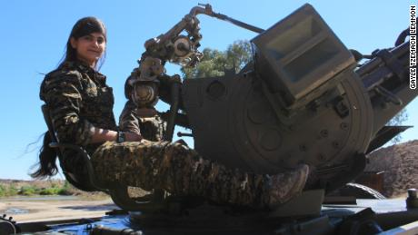 Member of Women's Protection Units during the fight against ISIS