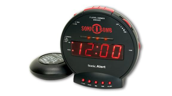 Sonic Bomb Dual Extra-Loud Alarm Clock With Bed Shaker