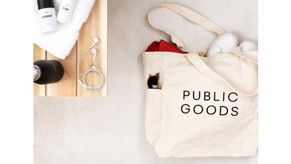 Public Goods Reusable Cotton Tote Bag