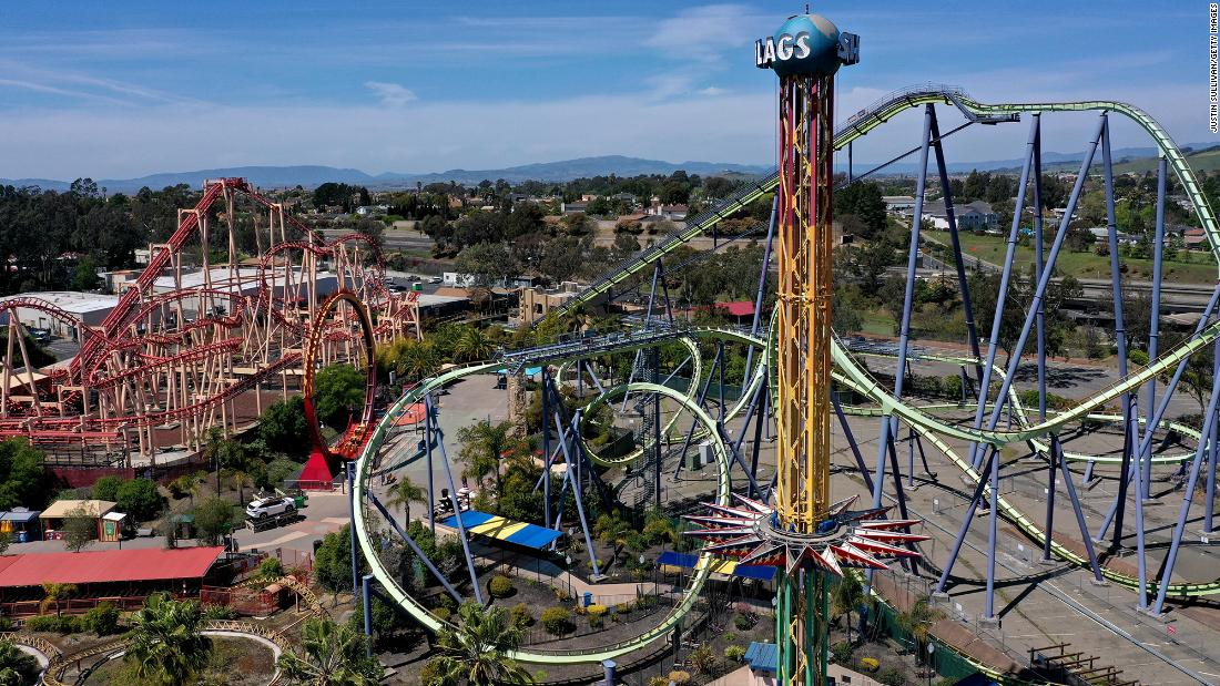 Time to ride our new hybrid coaster. Six Flags Plans To Open All Of Its Amusement Parks For 2021 Season Cnn