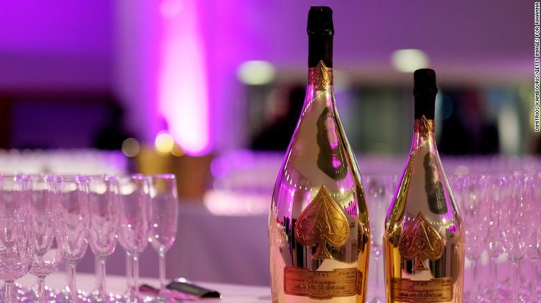 Armand de Brignac is served during the launch of Rihanna's first Visual Autobiography, Rihanna, at Guggenheim Museum on October 11, 2019 in New York City.
