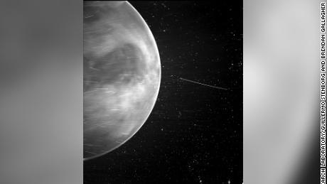 Parker Solar Probe's WISPR instrument captured this view of Venus in July 2020.