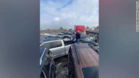 Ice on an interstate bridge likely caused the accident, the Montana Highway Patrol said.