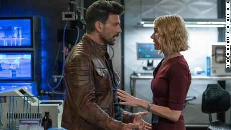 """Frank Grillo (left) and Naomi Watts (right) are shown in a scence from """"Boss Level."""""""