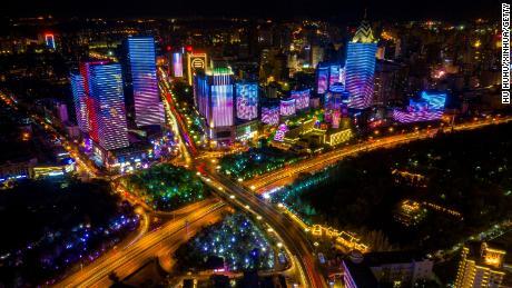 The Xinjiang capital of Urumqi on October 1, 2020.