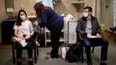 After getting vaccinated, it's critical to keep masking in many places (for now).  Here is why