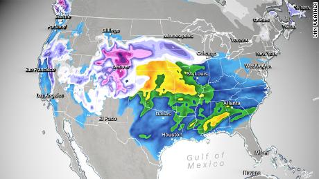 Millions are under winter storm advisories as blizzards and heavy rain move across the US