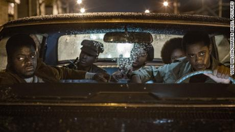 (From left) Daniel Kaluya, Ashton Sanders, Algee Smith, Dominic Thorne and Lakith Stanfield & quot;  Is shown in a scene from Judas and the Black Messiah.  & quot;