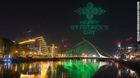 Dublin, Ireland celebrated St. Patrick's Day differently this year with a drone light show.