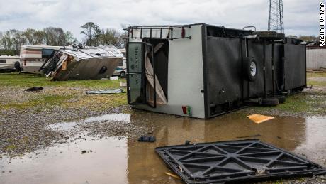 A tornado struck in Moundville, Alabama, on March 17, 2021.