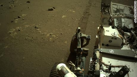 Hear the Perseverance rover's wheels crunch across the Martian surface