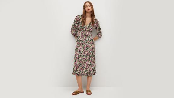 Mango Midi Printed Dress