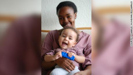 Mary Mithika and her daugher, Ayah.