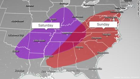 More tornadoes may be in the south this weekend