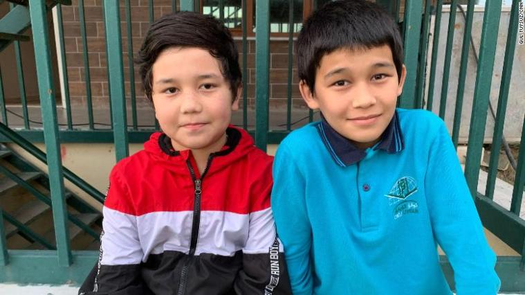 """Abdullah, 13, and Mohammad, 11, live and study at the Oku Uyghur school in the outskirts of Istanbul. They have not been able to contact their family in more than four years.  As if it was too much to ask that both their parents be in their lives, Abdullah quietly says """"at least one of them should be with us."""""""