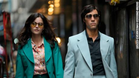 (From left) Monique / Marie-Andrei Leclerc as Jenna Coleman and Charles Sobhraj as Tahr Rahim & quot;  The Serpent & quot;