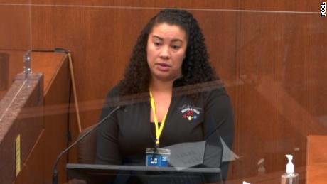 Minneapolis 911 dispatcher Jena Scurry was the first witness in the closely watched trial.