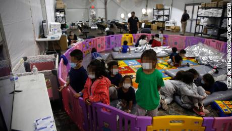 Children sleeping on mats in overcrowded plastic pods: Inside a facility on the US-Mexico border