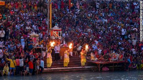 Mass religious festival takes place in India, despite fears of Covid as country enters second wave