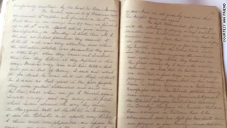 Pages from the diary of Charles Lawrence, coach of the 1868 Aboriginal team and one of the chief recorders of the historic tour.