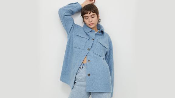 H&M Oversized Shirt Jacket
