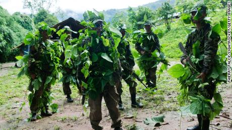 Training for young recruits of the 5th Brigade of the Karen National Liberation Army (KNLA) on June 27, 2012.