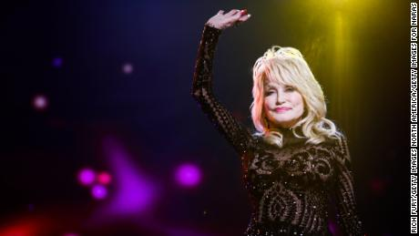 Dolly Parton attends the MusiCares Person of the Year tribute concert at the Los Angeles Convention Center, February 8, 2019.