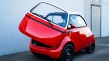 "The Microlino is modeled on post-World War II European ""bubble cars."""