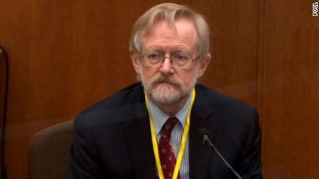 Dr. Martin Tobin testifies during the trial of former Minneapolis Police officer Derek Chauvin on April 8, 2021.