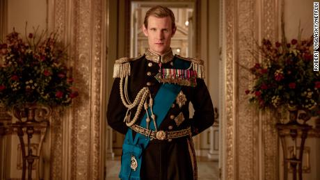 Matt Smith starring as younger Prince Philip in 'The Crown.'