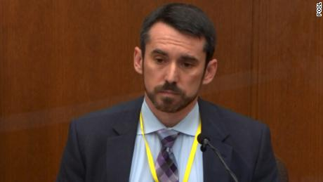 Seth Stoughton, a use-of-force expert, testified in court on April 12, 2021.