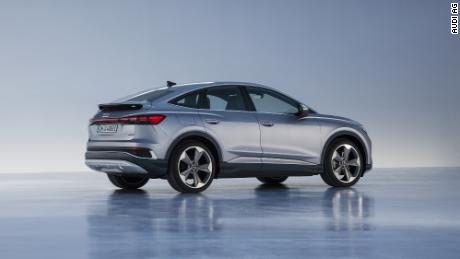 The Audi Q4 Sportback E-tron will have a sloped rear which gives this variant somewhat better aerodynamics.