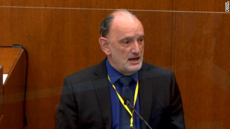 Dr. David Fowler testified for the defense in the trial of former Minneapolis Police officer Derek Chauvin on April 14.