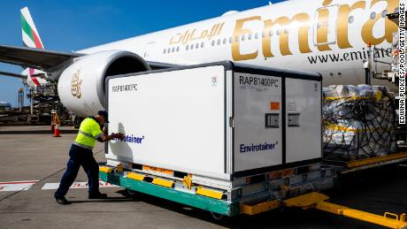 The first doses of AstraZeneca's Covid-19 arrived in Australia on February 28.