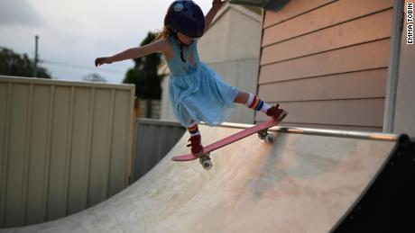 One of Paige's favorite tricks is landing a 540, she told CNN.