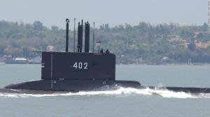 Indonesia seeks missing submarine with 53 people on board