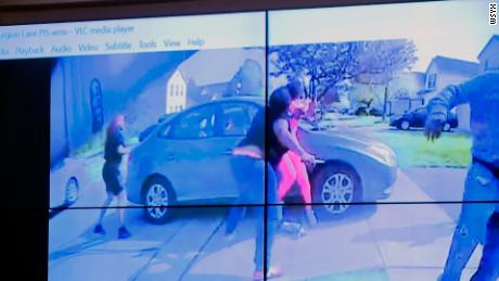 Police body cam video shows Ma'Khia Bryant charging woman with a knife Tuesday before she was shot by officer in Columbus, Ohio.