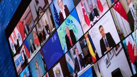 World leaders take part in a virtual climate summit called by US President Joe Biden.