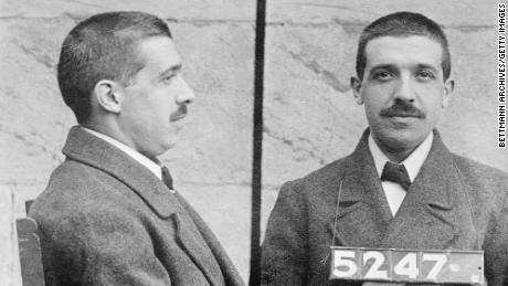 Mugshots of Charles Ponzi.